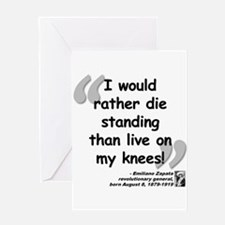 Zapata Standing Quote Greeting Card