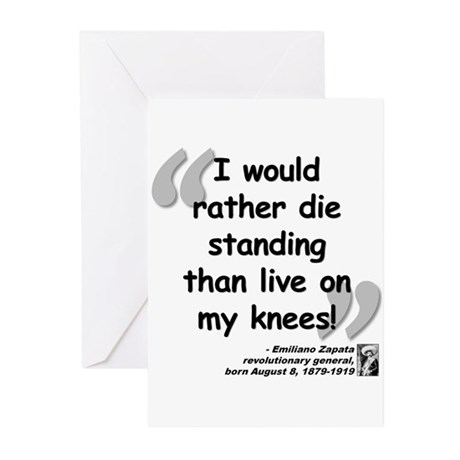 Zapata Standing Quote Greeting Cards (Pk of 20)