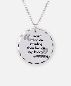 Zapata Standing Quote Necklace