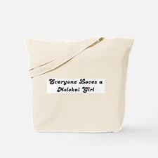 Loves Molokai Girl Tote Bag