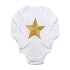 Gold Star Long Sleeve Infant Bodysuit