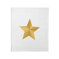 Gold Star Throw Blanket