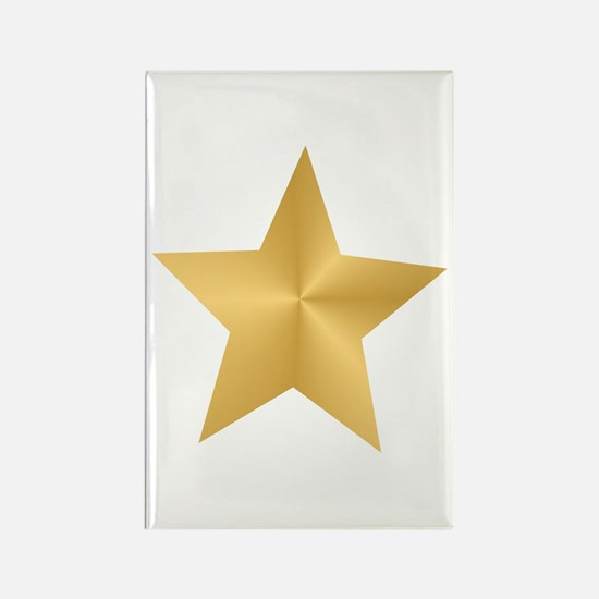 Gold Star Rectangle Magnet