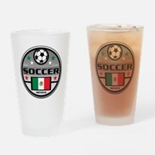 Live Love Soccer Mexico Drinking Glass