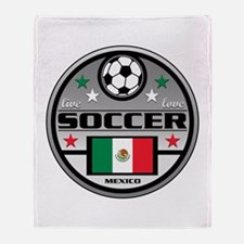 Live Love Soccer Mexico Throw Blanket