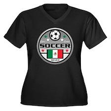 Live Love So Women's Plus Size V-Neck Dark T-Shirt