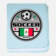 Live Love Soccer Mexico baby blanket