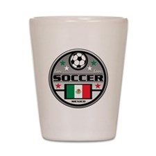 Live Love Soccer Mexico Shot Glass