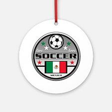Live Love Soccer Mexico Round Ornament