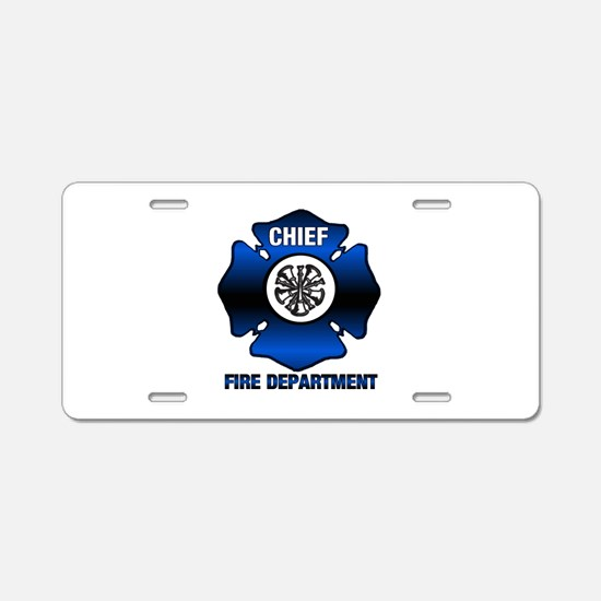 Fire Chief Aluminum License Plate