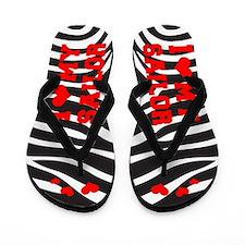 I love my Sailor (red) Flip Flops
