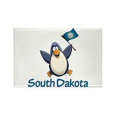 South Dakota Penguin Rectangle Magnet