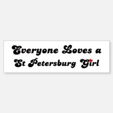 Loves St Petersburg Girl Bumper Bumper Bumper Sticker