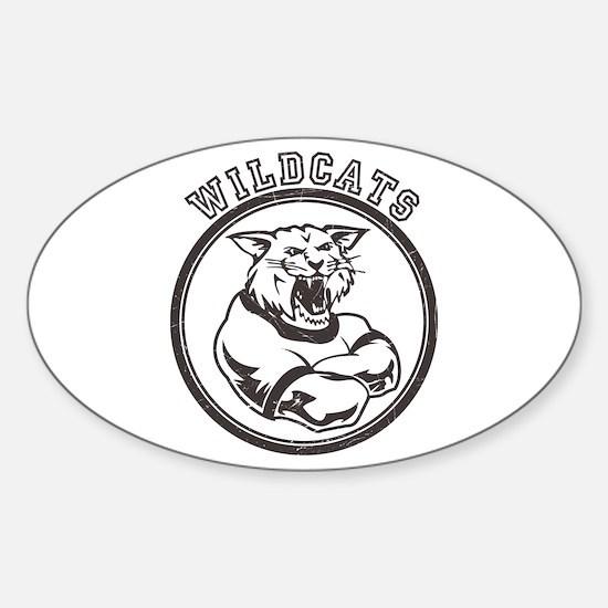Wilcats team Mascot Graphic Sticker (Oval)