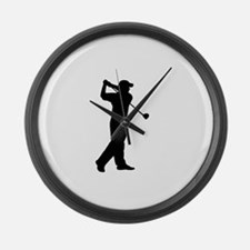 Cute Golf course Large Wall Clock