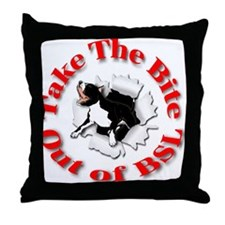 Take a Bite Out of BSL Throw Pillow