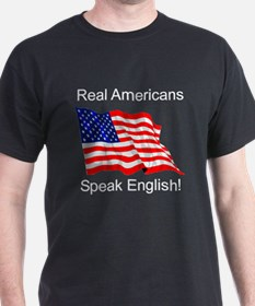 Real Americans Black T-Shirt