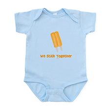 Stick Together Twins Infant Bodysuit