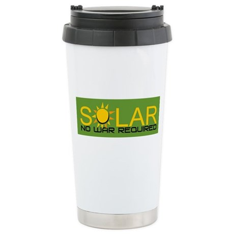 Solar - No War Stainless Steel Travel Mug