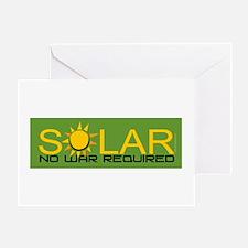 Solar - No War Greeting Card