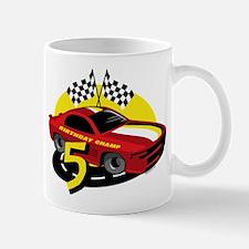 Race Car 5th Birthday Mug