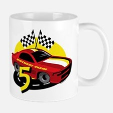 Race Car 5th Birthday Small Small Mug
