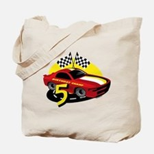 Race Car 5th Birthday Tote Bag