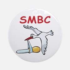 SMBC Stork Ornament (Round)