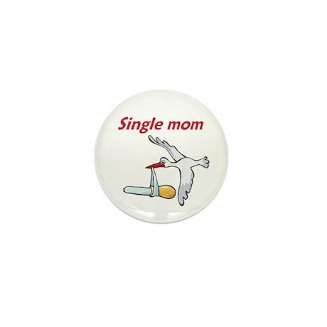 Single Mom Stork Mini Button (10 pack)