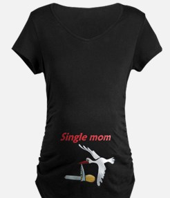Single Mom Stork T-Shirt