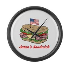 Satan's Sandwich Large Wall Clock