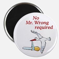 No Mr Wrong Stork Magnet