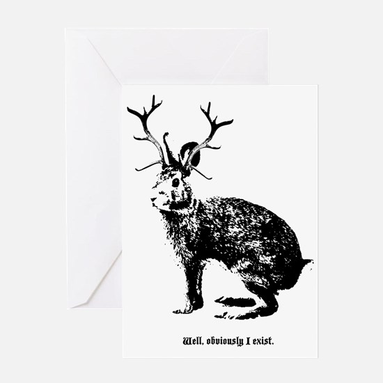 Jackalopes exist Greeting Card