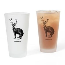 Jackalopes exist Drinking Glass