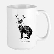 Jackalopes exist Large Mug