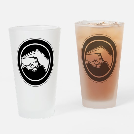 Funny Karate Drinking Glass