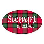 Tartan - Stewart of Athol Sticker (Oval 10 pk)
