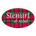Tartan - Stewart of Athol Sticker (Oval 50 pk)