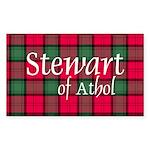 Tartan - Stewart of Athol Sticker (Rectangle 50 pk