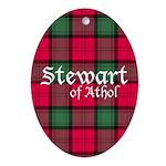 Tartan - Stewart of Athol Ornament (Oval)