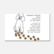 Cute Poodle Car Magnet 20 x 12