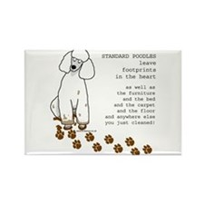 Cute Dog poodle Rectangle Magnet
