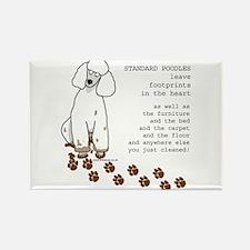 Cute Poodles Rectangle Magnet