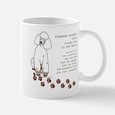 footprints-poodle standard copy Mugs