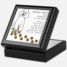 Cute Standard poodle Keepsake Box