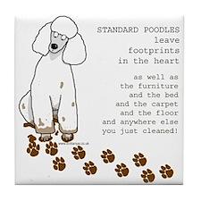 Cute Standard poodle dog Tile Coaster