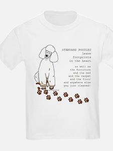 footprints-poodle standard copy T-Shirt