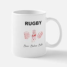 Rugby: Beer Babes Balls Mug