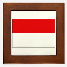 Indonesian Flag Framed Tile