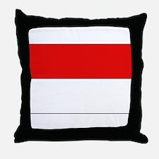 Indonesian Flag Throw Pillow
